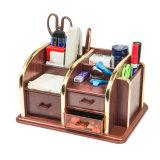 Organizador de escritorio de múltiples funciones de madera del almacenaje
