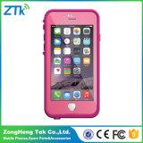 Le cas rose de téléphone cellulaire de Lifeproof pour l'iPhone 6s imperméabilisent la caisse