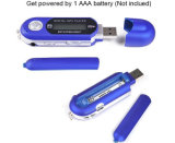 AAA Battery USB TF Card MP3 Player Gravador de voz