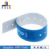 Bracelet personnalisé d'écran en soie d'IDENTIFICATION RF de papier enduit pour l'hôpital