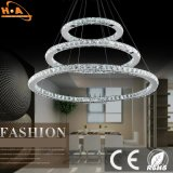 Modernthree unos anillos LED lámpara colgante