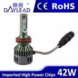 LED Headlight Vehicle H11 / H8 / H9 Luz de nevoeiro Low Beam Single Beam Headlamp 4800lms 9-45V