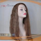美しく長い巻き毛の人間の毛髪のかつら