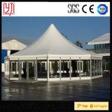 Abdeckung-Zeltoctagon-Zelt-sechseckiges Zelt des Abdeckung-Zelt-Durchmesser-7.5m 15m transparentes