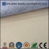Ткань текстуры PVC конструкции креста Litchi кожаный для драпирования софы/мебели