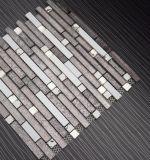 Brown смешал белую декоративную популярную стеклянную каменную мозаику прокладки