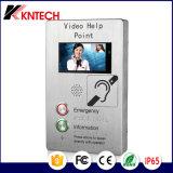 painel táctil TFT-LCD Porta de vídeo IP telefone Industrial de intercomunicação de Telefone