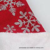 Шлем рождества высокого качества красный с серебряной снежинкой для детей