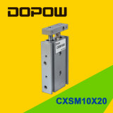 Cxsm 10-20 Cylindre double cylindre à glissière pneumatique Cylindre à air comprimé