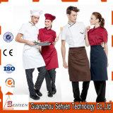 El uniforme respirable del cocinero de la nueva alta calidad al por mayor de encargo