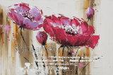 印象主義のクラフトの花の油絵