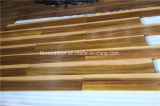 Suelo natural de la madera dura de Iroko del color multi