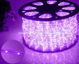 LEDロープライトまたは屋外Light/LEDの滑走路端燈またはネオンライトまたはクリスマスの照明または休日はライトまたはホテルライトまたは棒軽い円形2ワイヤー白い25LEDs 1.6W/M LEDのストリップを暖める