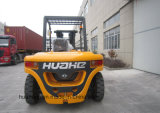 7.0Ton 4.5Meter 세겹 돛대를 가진 디젤 엔진 지게차 (HH70Z-N6-D 의 단단한 타이어)