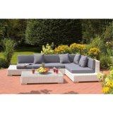 L Shape Outdoor Rattan / Wicker Corner Sofa Mobiliário de jardim