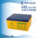 Pila secondaria di energia solare 24V 12V 120ah di Whc con la carica