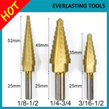 Imperial System Titanium Coated HSS Step Drill Bits