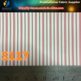 Guarnición multicolora, guarnición de la raya, tela del poliester, tela de la guarnición del juego (S113.117)