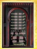 Quran/sveglia musulmana di Digitahi per la preghiera che comunica l'orologio di parete di Azan
