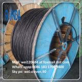 Câble de fil électrique de cuivre blindé isolé de fil d'acier de basse tension