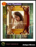 Regalo antico di legno decorato del blocco per grafici della foto di disegno