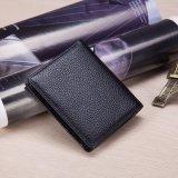 Los fabricantes venden al por mayor las líneas de asunto cortas de la carpeta del monedero de la carpeta de los hombres de cuero de la carpeta horas de la oferta especial de la carpeta de la insignia de la diversión (B-05)