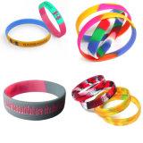 Couleur mélangée de qualité faite sur commande de Hight et silicones Wrisband (YB-HD-190) de bracelet de silicones