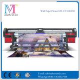 3,2 metros impresora UV con con Epson Dx5 DX7 Prinhead de papel para pared liga película suave Mt-Wall Paper UV3207de