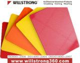 4mm de aluminio rojo y amarillo brillante panel Iniciar sesión