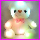 Gift van Kerstmis paste de Witte LEIDENE Gevulde Teddybeer van de Pluche aan