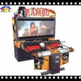 Rambo는 실내 오락 장비를 쏘는 포술을 시뮬레이트했다