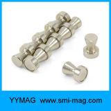 Aimant de réfrigérateur broche métal axe poussoir magnétique en acier inoxydable