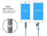 Neue Ankunft 2 in 1 USB-Daten-aufladenkabel für iPhone7/Samsung