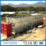 Tanque de água conetado galvanizado do painel parafuso secional