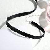 Choker del nero della collana dei monili dell'argento sterlina di modo 925