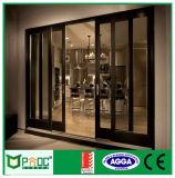 Puder-überzogene Aluminiumschiebetüren mit doppeltem ausgeglichenem Glas Pnoc0011