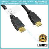 Cable plateado Gloden de alta velocidad 1.4V de 24k HDMI con Ethernet para 3D