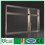 Reizbares Aluminiumfenster mit hölzernem Korn