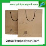 Bolsa de papel modificada para requisitos particulares útil de lujo de Kraft del bolso de compras con la cinta
