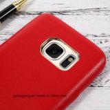 Caja de cuero del teléfono celular de la PU para la galaxia S7 de Samsung