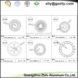 De Uitdrijving Heatsink van het Profiel van het Aluminium van de Buis van de Cirkel van Guangzhou