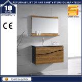 Шкаф мебели ванной комнаты Veneer санитарных изделий деревянный с ногами