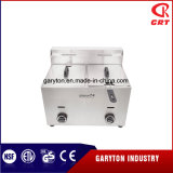 商業台所2タンクステンレス鋼のガスの深いフライヤー(GRT-G20L)