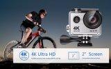 La macchina fotografica 4k/30fps di azione si raddoppia macchina fotografica impermeabile di sport della mini camma dell'affissione a cristalli liquidi