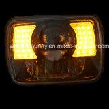 Offroad 지프 논쟁자 Jk Lj Tj 체로키 Xj 트럭을%s 지프 헤드라이트 보충을%s 사각 LED의 7 인치 50W 쌍