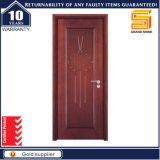 Porte en bois stratifiée par PVC intérieure panneau américain texturisé/lisse