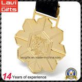金の金属の雪片の形のSprotカスタムメダル