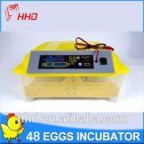 De Hhd incubadora deGiro automática Yz8-48 do ovo da galinha completamente mini