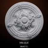 Polyuréthane de médaillon de plafond d'unité centrale moulant pour le décor à la maison Hn-014