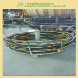 땋아진 철강선은 고무에 의하여 덮은 유압 고무 호스 (SAE100 R1-1-1/4)를 강화했다